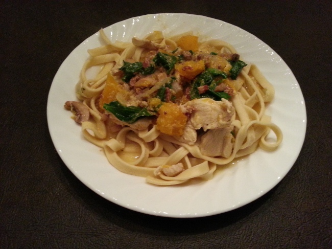 Creamy Chicken and Pumpkin Pasta