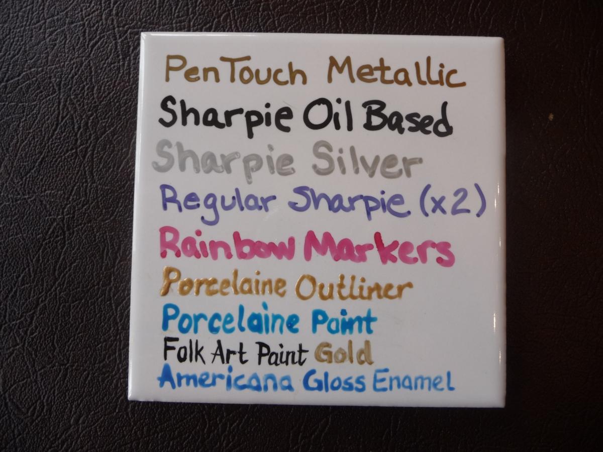 Sharpies On Ceramics Part Ii Good News Della S Blog